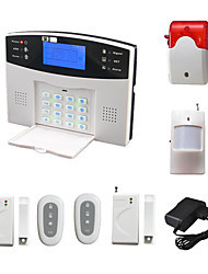 En Spanish French Voice LCD Wireless GSM Alarm System With Pir Door Detector Siren SMS Call Alarme Alarma Security Home