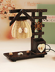 Creative Wood The House with Pen Container Decoration Desk Lamp Bedroom Lamp Gift for Kid