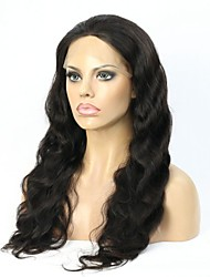 Glueless full lace wigs Virgin Brazilian Human hair Wavy lace front wigs for black women with baby hair