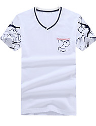 The 2016 Summer men's T-shirt cotton V collar young men Korean slim casual metrosexual man tide