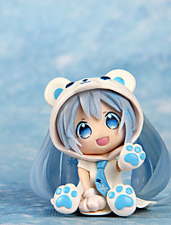 Cosplay Bear Lovely Snow Band Hatsune 7CM PVC Model Doll Toys Anime Action Figures