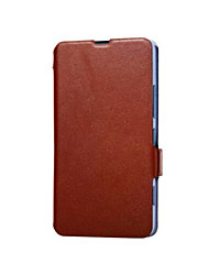 For Nokia Case with Stand / Flip Case Back Cover Case Solid Color Hard Genuine Leather Nokia Nokia Lumia 1320
