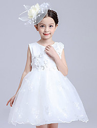 Girl's Polyester Summer The Host Clothing Flower Gauze Lace Dress