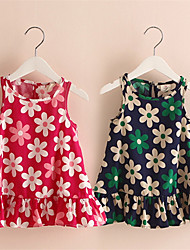 Baby Girl Dress Clothes Floral Print Girls Dress Summer 2016 Costume Casual Clothes
