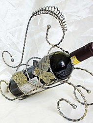 Fashion  Creative wine rack Wrought iron frame Grape Leaf
