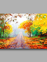 Ready to Hand Stretched Hand-Painted Abstract Modern Thick Oil Painting Canvas Autumn scenery Home Decor