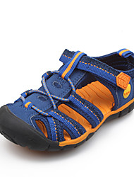 Boy's Summer Comfort / Gladiator / Round Toe / Sandals Canvas / PU Casual Flat Heel Braided Strap / Magic Tape Blue