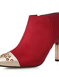 Women's Shoes Leatherette Chunky Heel Heels Heels Wedding / Office & Career / Dress Black / Red