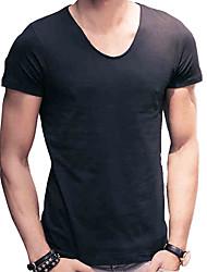 2016 new summer men's t-shirt t-shirt men sport shirt slim pure Korean tide