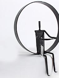 e-FOYER mur d'art de mur en métal décor, noir abstrait méchant mur décor un pcs