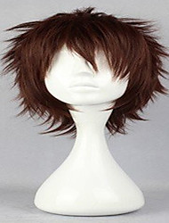 Popular Cosplay Wigs Natural Wig Man's Wig Dark Brown Short Curly Animated Synthetic Hair Wig
