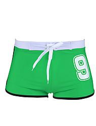 Shorts de Bain Pour des hommes Couleur Pleine / Rubans Spandex / Coton