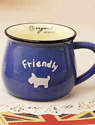 Classic Creative Blue Ceramic Mug Cup