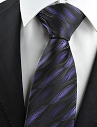 Gravata(Preto / Roxo,Poliéster)Estampado