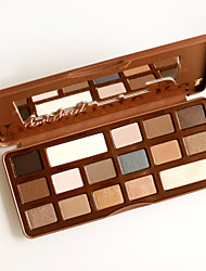 Semi Sweet Chocolate / 16-Color Smoked Eye Shadow Palette with Mirror