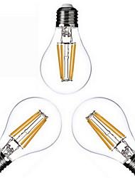 4W E26/E27 Ampoules à Filament LED A60(A19) 4 COB 400 lm Blanc Chaud Gradable AC 100-240 AC 110-130 V 3 pièces