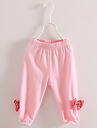 BK Fashion Cute Girls  Bow Leggings Cropped Pants Pirate Shorts 2016 Summer Kids' Clothing