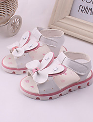 Girl's Sandals Spring Summer Leather Outdoor Dress Casual Party & Evening Bowknot Pink White