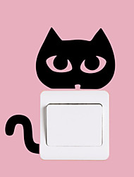 Wall Stickers Wall Decals Style Thriller Cat Switch PVC Wall Stickers
