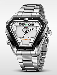 WEIDE® Men's Full Steel Sports Watch Quartz LED Analog Irregular Shape Wristwatch Cool Watch Unique Watch