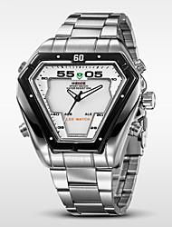WEIDE® Men's Full Steel Sports Watch Quartz LED Analog Irregular Shape Wristwatch Cool Watch Unique Watch