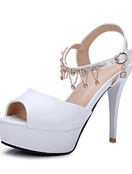 Women's Shoes Stiletto Heel Peep Toe Sandals Dress Blue / Pink / Purple / White / Beige