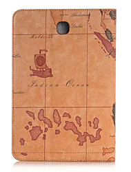 Pour Samsung Galaxy Coque Porte Carte / Portefeuille / Avec Support / Clapet Coque Coque Intégrale Coque Dessin Animé Cuir PU SamsungTab
