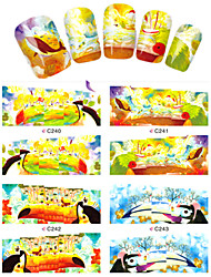 8pcs  Nail Art Water Transfer Stickers Lovely Parrot Image Fashion C240-243