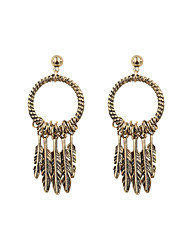 Fashion Women Vintage Leaf Drop Earrings