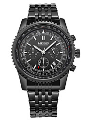 MEGIR® Chronograph Mens Watches Top Brand Luxury Stainless Steel Wrist Watch Men Clock Watches Quartz Watch Cool Watch Unique Watch