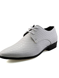 Men's Oxfords Spring Fall Formal Shoes Comfort Wedding Office & Career Party & Evening Flat Heel Black Brown Sliver