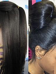 "Unprocess 8""-24"" Yaki Straight Brazilian human hair lace front wigs"