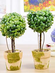 style européen fleur artificielle avec vase miniascape fixé pour fenêtre d'accueil decorartion (couleur aléatoire)