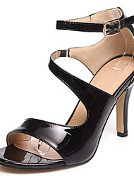 Women's Shoes Patent Leather/Stiletto Heels/Open Toe Sandals Office & Career/Party & Evening/Dress
