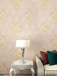 Contemporary Wallpaper Art Deco 3D Sweet Garden Flower Wallpaper Wall Covering Non-woven Fabric Wall Art