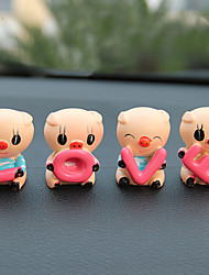 Love Pig Cartoon Car Decoration