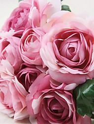 шелк чайных роз искусственные цветы многоцветной дополнительно 1 шт / комплект