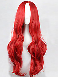 Cos Anime Bright Colored Wigs Break Up in The Red Curly Wig 75 cm