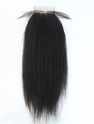 kinky Straight Human hair Lace Closure 3.5*4 with Baby Hair