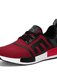Running Shoes Men's Shoes Casual Fabric Fashion Sneakers Running Shoes Black / Blue / Red