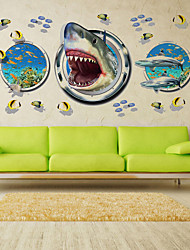 3D Wall Stickers Wall Decals Style New Underwater World Fish PVC Wall Stickers