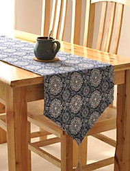 Floral Pattern Table Runner Fashion Hotsale High-grade Cotton Linen Table Top Deco
