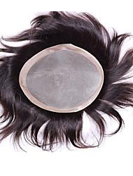 """6 """"* 8"""" человеческие девственные части волос для мужчин тупею моно базовый тупею парик 6 дюймов"""
