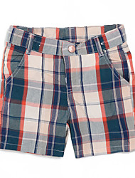Girl's Casual/Daily Plaid Shorts,Cotton Summer Black / Brown