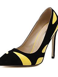 Feminino-Saltos-Saltos-Salto Agulha-Amarelo / Branco-Flanelado-Casual
