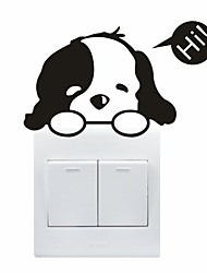 AYA™ DIY Wall Stickers Wall Decals, Lovely Funny Dog Pattern Light Switch Stickers