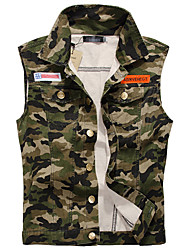 Men's Sleeveless Tank Tops,Cotton / Polyester Casual / Sport Camouflage 916010