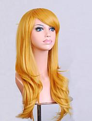 la mode dessin animé de couleur perruques colorées de mascarade spéciale 70 cm perruque jaune