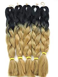 #27 Box Zöpfe Jumbo Haarverlängerungen 24inch Kanekalon 3 Strand 80-100g/pcs Gramm Haar Borten