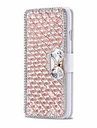 Para Funda iPhone 5 Soporte de Coche Diamantes Sintéticos con Soporte Flip Funda Cuerpo Entero Funda Brillante Dura Cuero Sintético para